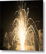 Fountain Firework Metal Print