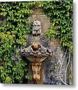 Fountain In The Walled Garden, Florence Metal Print