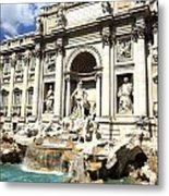 Fountain Of Trevi Metal Print