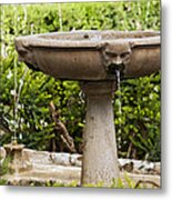 Fountain With Faces Metal Print