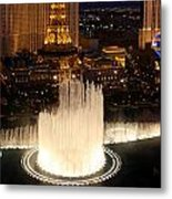 Fountains At Night Metal Print