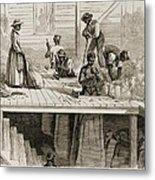 Four 1869 Illustrations Show Processing Metal Print