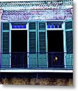 Four Balcony Windows Metal Print