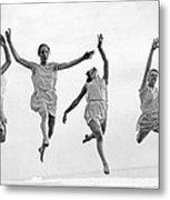 Four Dancers Leaping Metal Print