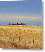 Four Outbuildings In The Field Metal Print