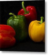 Four Peppers Metal Print