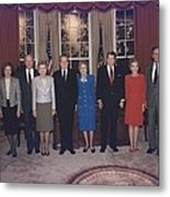 Four Presidents And Five First Ladies Metal Print
