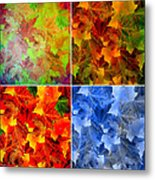 Four Seasons In Abstract Metal Print