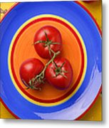 Four Tomatoes  Metal Print