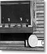 Four Tulips Cafe Bw Metal Print