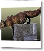 Fox On A Pedestal Metal Print