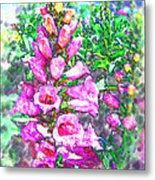 Foxglove Floral Metal Print