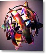 Fractal Abstract Viii Metal Print