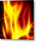 Fractal Fire Metal Print by Steve Ohlsen