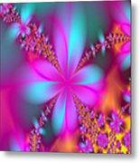 Fractal Flowers Metal Print