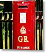 Fractalius Pillar Box Metal Print