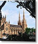Framed Cathedral Metal Print