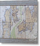 Framed Narragansett Bay Tile Set Metal Print