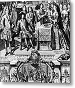 France: Baptism, 1704 Metal Print