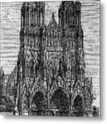 France: Reims Cathedral Metal Print