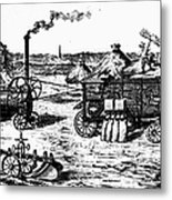 France: Steam Threshing Metal Print