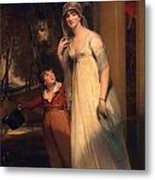 Frances Borlase Later Frances Grenfell And Pascoe George Norman Grenfel Metal Print by Sir Martin Archer Shee