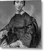 Frances Sargent Osgood (1811-1850). American Poet. Engraving From A Painting By Alonzo Chappel, C1873 Metal Print