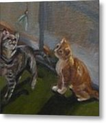 Frankie And Fiona Chasing The Green Faery Metal Print