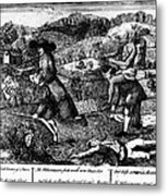 Franklin: Cartoon, 1764 Metal Print