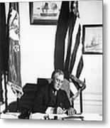 Franklin D. Roosevelt, 32nd American Metal Print by Omikron