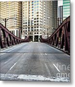 Franklin Orleans Street Bridge Chicago Loop Metal Print by Paul Velgos