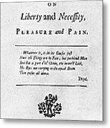 Franklin: Title Page, 1725 Metal Print by Granger