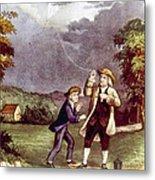 Franklins Experiment, June 1752 Metal Print
