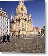 Frauenkirche And Surroundings Metal Print