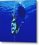 Free-diving Training Metal Print