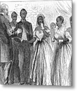 Freedmen: Wedding, 1866 Metal Print by Granger