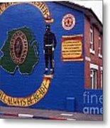 Freedom Corner Mural Belfast Northern Ireland Metal Print