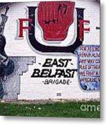 Freedom Corner Mural Belfast Metal Print