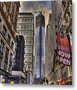 Freedom Tower Rising Metal Print