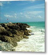 Freeport Coast Metal Print