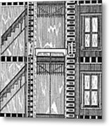 Freight Elevator, 1876 Metal Print by Granger