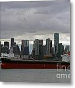 Freighter In Port Metal Print