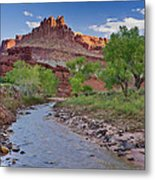 Fremont River And Castle Metal Print