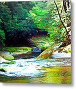 French Broad River Filtered Metal Print