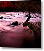 French Broad River In Fall Metal Print