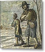 French Class Cartoon, 1657 Metal Print