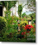French Cottage Garden Metal Print
