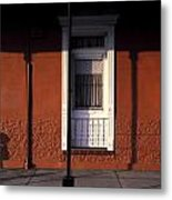 French Quarter Door And Shadows New Orleans Metal Print