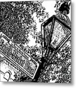 French Quarter French Market Street Sign New Orleans Stamp Digital Art Metal Print
