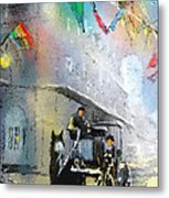 French Quarter In New Orleans Bis Metal Print